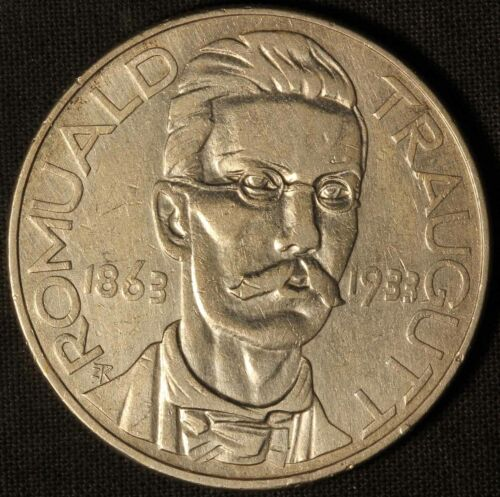 1933 Poland 10 Zlotych Romuald Traugutt Commemorative Silver Coin - Free Ship US