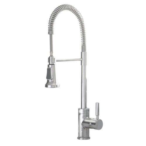 industrial style chrome pull down kitchen sink faucet industrial faucet kitchen home architecture