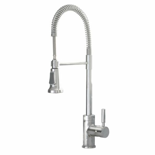 Details about INDUSTRIAL STYLE CHROME PULL DOWN KITCHEN SINK FAUCET