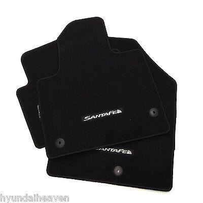 2014 Genuine Hyundai Santa Fe Sport Black Carpet Floormats factory floor mats