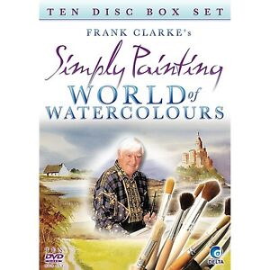 Frank Clarke's Simply Painting - World Of Watercolours - 10 DVD SET - NEW