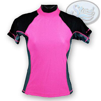 Medium Pink Rash Guard Ladies Womens New by Strand SPF 50 Swimwear Shirt