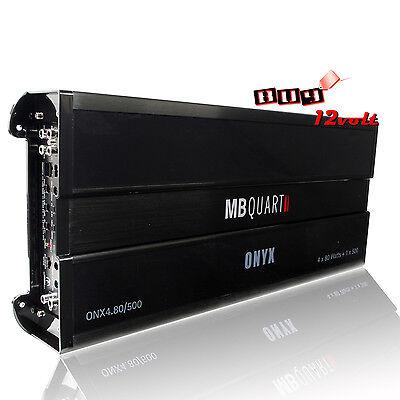 MB Quart ONX4.80/500 980W RMS, ONYX Series 5-Ch Class A/B Car Amplifier.