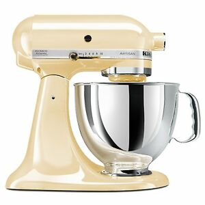 KitchenAid-Almond-Cream-Artisan-5-Quart-Stand-Mixer-KSM150PSAC-Works-Worldwide