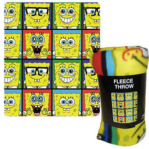 Spongebob Squarepants Throw And Pillow Set : Spongebob Blanket eBay