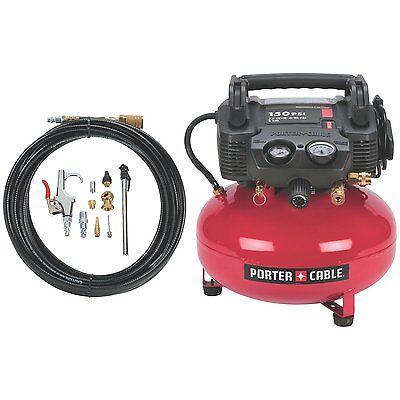 Porter-cable C2002-wk Oil-free Umc Pancake Air Compressor W/ Accessories