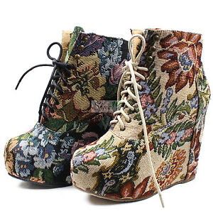 Fashion-NEWEST-Sexy-Super-Star-Booties-Chunky-Platform-High-Heel-Pump-Wedge-Shoe