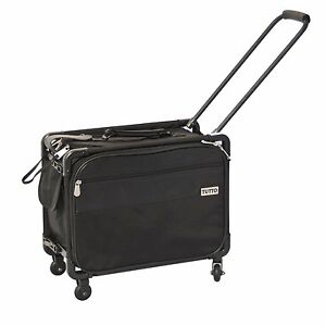 tutto 17 inch small office on wheels bag case for laptop 4217bcc black new ebay. Black Bedroom Furniture Sets. Home Design Ideas