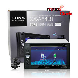 Sony-XAV-64BT-In-Dash-6-1-touchscreen-DVD-USB-MP3-Receiver-Bluetooth-iPod