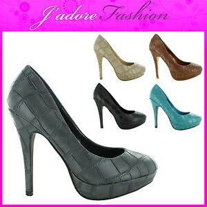 NEW-LADIES-CROC-LOOK-PLATFORM-STILETTO-HIGH-HEEL-COURT-SHOES-SANDALS-SIZE-UK-3-8