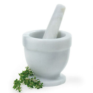 NORPRO-695-Tall-Large-Marble-Mortar-Pestle-NEW