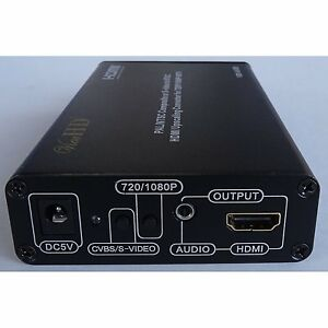 ViewHD AV RCA Composite / S-Video (PAL or NTSC) to NTSC HDMI Upscaling Converter