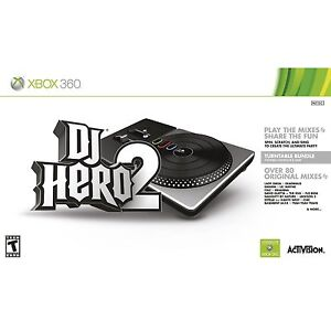 XBOX 360 DJ Hero 2 Bundle - Turntable + Game