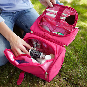 New-Lug-Travel-FLIP-TOP-Makeup-Toiletry-Case-2-in-1-Cosmetic-Bag-PICK-A-COLOR