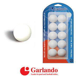 GARLANDO-Foosball-Table-Football-White-Standard-Balls-Blister-Pack-of-10