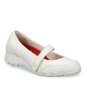 Skechers-Work-Sassies-IMPRESSIVE-White-Mary-Janes-Womens-NEW-76446