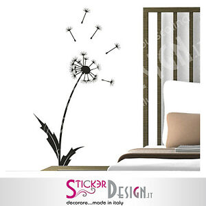 Wall stickers floreale adesivi murali dandelion stilizzato - Wall stickers camera da letto ...