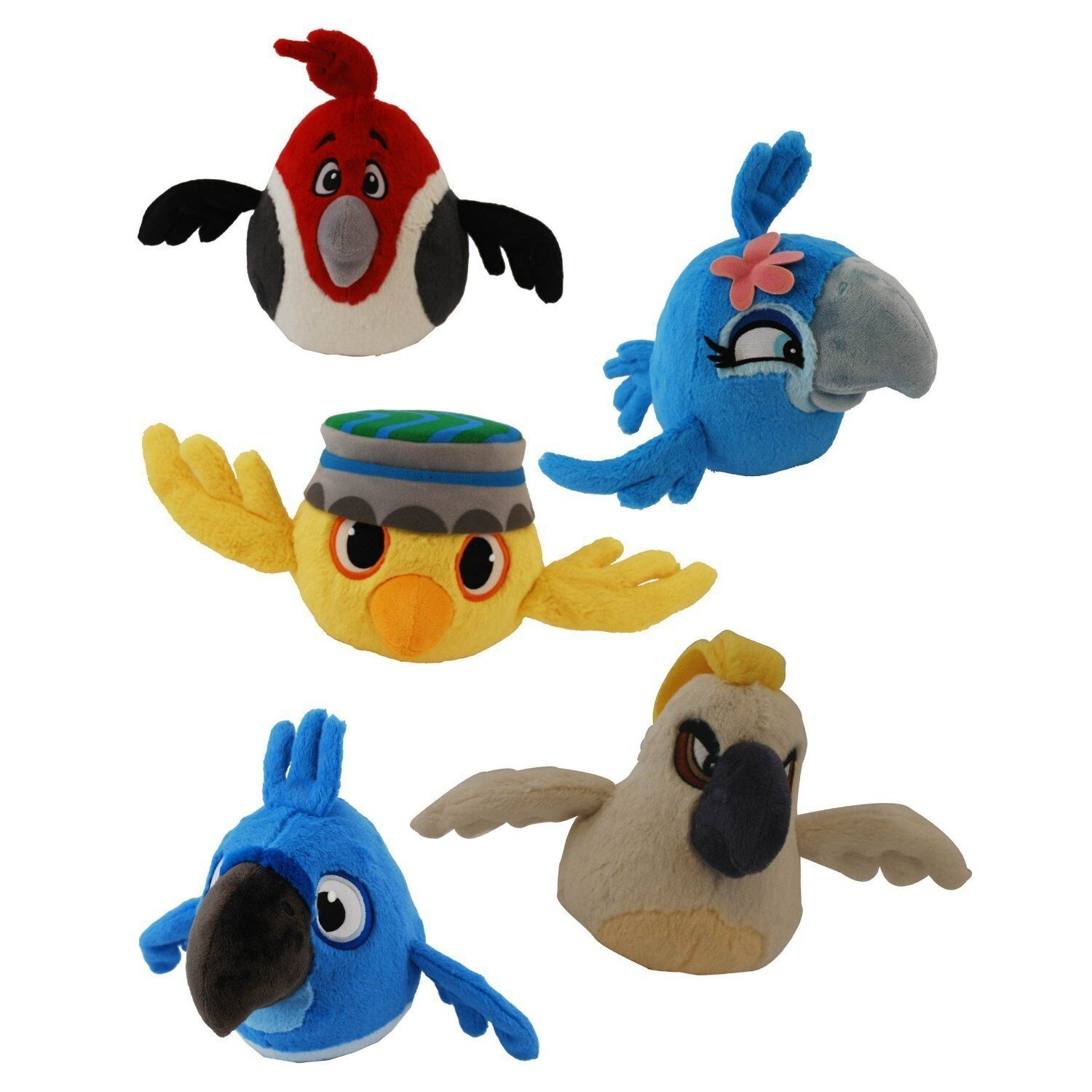 Angry Birds Toys : Angry birds plush set