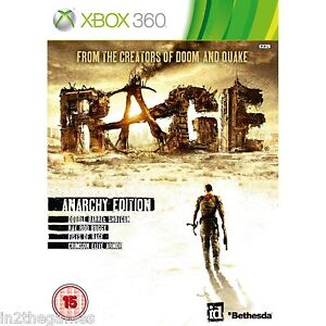 RAGE Anarchy Edition  XBOX 360 NEW & SEALED 1st class Post