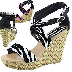 Ankle-Straps-Zebra-Pattern-Stripes-Wedges-High-Heel-Dress-Platform-Sandals-Shoes