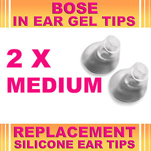 2x-Replacement-Medium-Ear-Gel-Tips-for-Bose-Triport-Earphone-Earbud-In-Ear-Canal