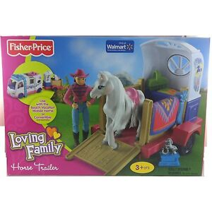 Fisher-Price-Loving-Family-Horse-Trailer-With-Pony-NEW-IN-BOX