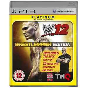 WWe 12 Wrestlemania Edition Brand New PS3 Game UK Release