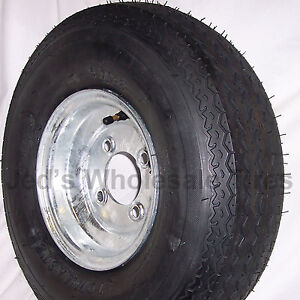 1) 5.70-8 570-8 JetSki Pop up Camper Boat Trailer Tire Rim Wheel 4-Hole 6ply Gal