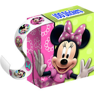 Minnie-Mouse-STICKER-BOXES-Party-Favors-4-Ct-New-Minnie-Bows-Bow-tique-Pattern