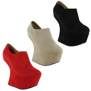New-Ladies-Studded-Platform-Heel-Less-Low-Heel-Spike-Sandals-Size-3-4-5-6-7-8