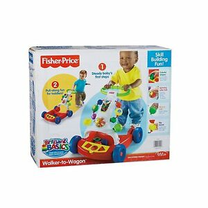 Fisher-Price Baby Walker, Activity Walker To Wagon Walking Aid NEW Item # K6670