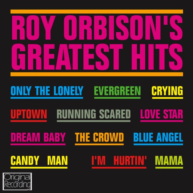 Roy Orbison's Greatest Hits CD
