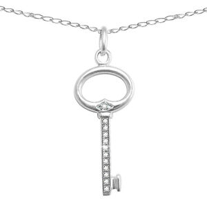 Sterling-Natural-Diamond-Key-Pendant-Enhancer-w-18-Sterling-Chain