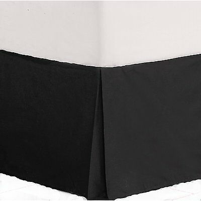King And Queen Size Microfiber Bed Skirt/dust Ruffle 1200 Thread Count Softness