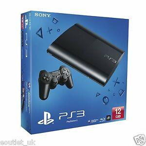 Sony PlayStation 3 PS3 12GB Super Slim Console NEW & SEALED Retail Boxed