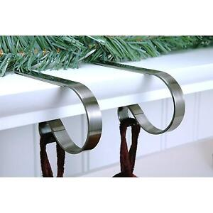 New Set of 4 Mantle Clips Christmas Stocking Holders Select the color