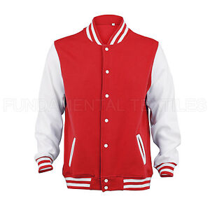 NEW Mens Varsity Letterman College Jacket -  S, M, L, XL & XXL - Baseball Jacket
