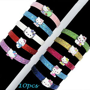 New-10PCS-Cute-Hello-Kitty-DIY-Bracelet-Kids-Birthday-Party-Favous-Bag-Gift