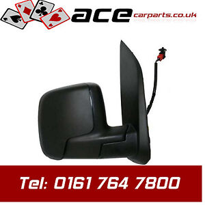CITROEN NEMO 2008  RH DOOR / WING MIRROR ELECTRIC HEATED BLACK TEMPERATURE SENS
