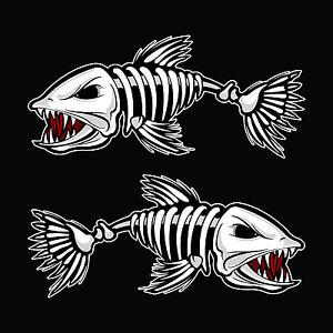 Fish skeleton sticker ebay for Fish skeleton decal