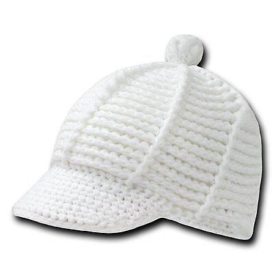 White Crochet Knit Reggae Rasta Kufi Winter Visor Jeep Beanie Cap Caps Hat Hats