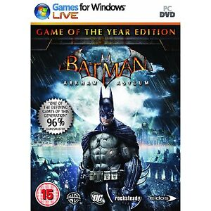 BATMAN ARKHAM ASYLUM GOTY FOR PC XP/VISTA SEALED NEW