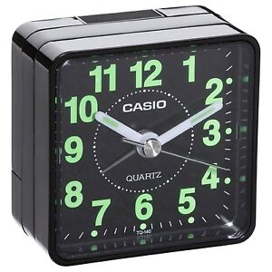 Casio Travel Quartz Beep Alarm Clock TQ140-1 (Black)
