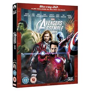 Marvel's The Avengers Assemble Blu-ray 3D + 2D Region Free brand new with seal