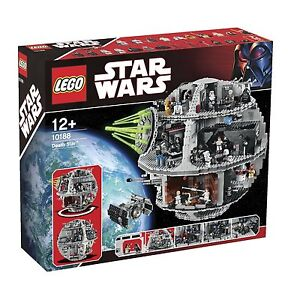 STAR WARS LEGO SET 10188 DEATH STAR NEW MISB 24 MINIFIGURES LEIA SOLO LUKE VADER