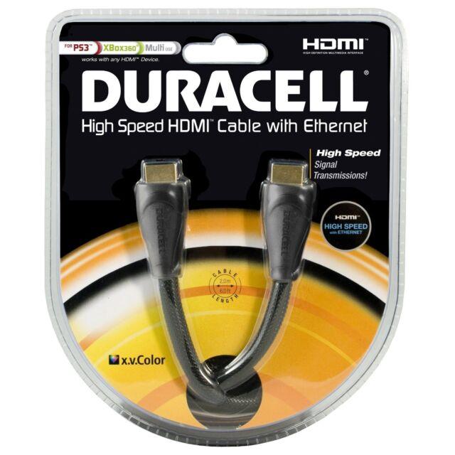 Premium high quality HDMI cable - 2M - DURACELL 3D 1080P HDTV Digital Video Lead