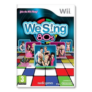 WE SING 80's Wii KARAOKE SINGING SOLUS GAME brand new & sealed UK ORIGINAL !