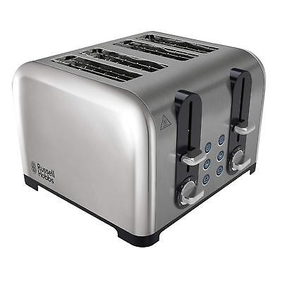 Russell Hobbs 4-Slice Toaster, Polished Stainless Steel, 1500 W, Silver