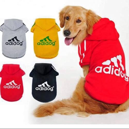 Winter neue Casual Adidog Pet Hundekleidung Warme Hoodie Mantel Kleidung Jacke