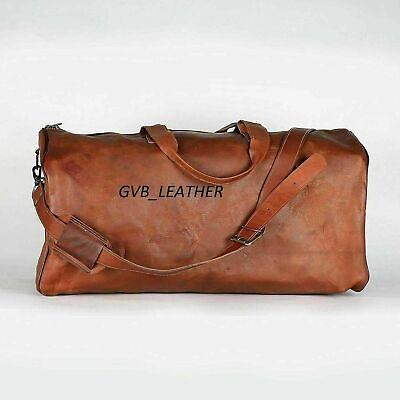 GENUINE BEST SELLER LEATHER HOLDALL TRAVEL WEEKEND CABIN SPORTS DUFFEL BAG (Best Leather Duffle Bag)
